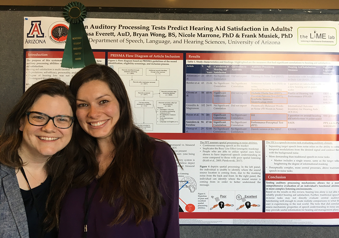 PhD student, Alyssa Everett, with her mentor Dr. Nicole Marrone
