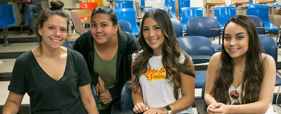 Undergraduates in SLHS classroom