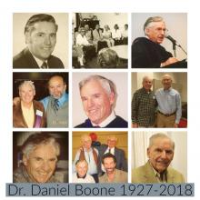 picture collage of Dr. Daniel Boone