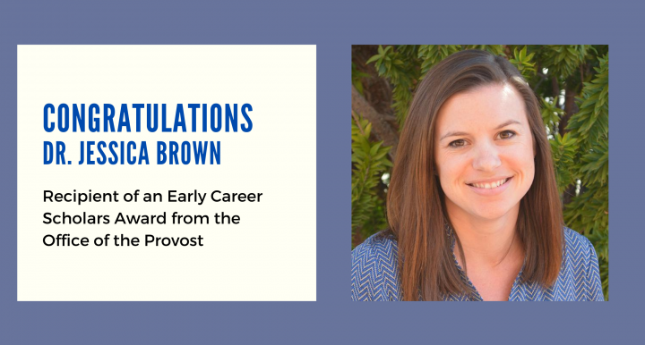 Infographic congratulating Dr. Jessica Brown